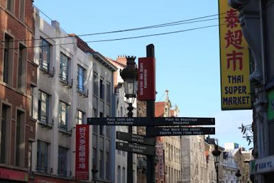 Bruxelles, quartier asiatique, rue Sainte Catherine