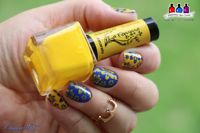 La Femme, Amarelo, Born Pretty, BPX-L002, Placa Born Pretty, Color Club, Azul elétrico, Bright Night, Sun's Up Top Down, Mony D07, Azul, unhas carimbadas