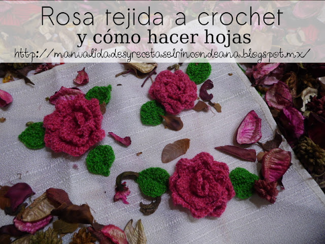 Rosa tejida con ganchillo