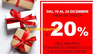 Logo Tornasconto Tigotà con il 20% di risparmio sulla spesa