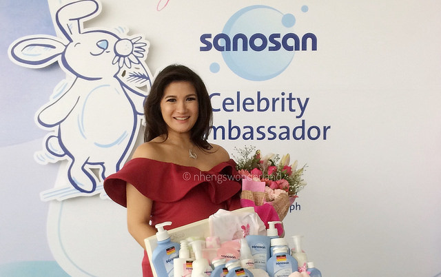 Camille Prats-Yambao as the new brand endorser of Sanosan
