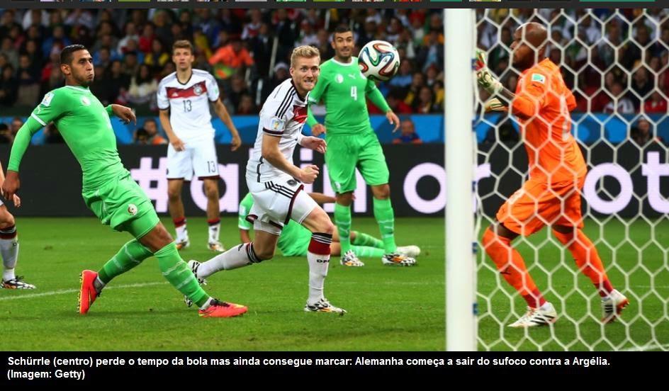 15eae23ff1159 A disputa – O favoritismo da Alemanha não foi intimidou a seleção da  Argélia. A seleção africana marcou firme e minguou as possibilidades  táticas da ...