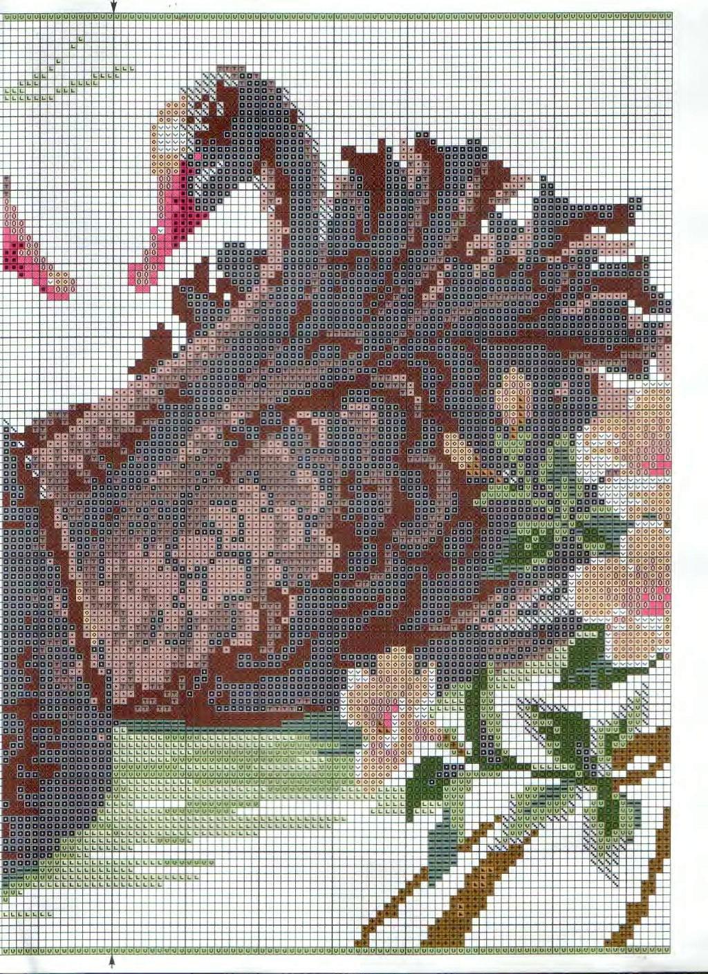 Схема вышивки Лебеди