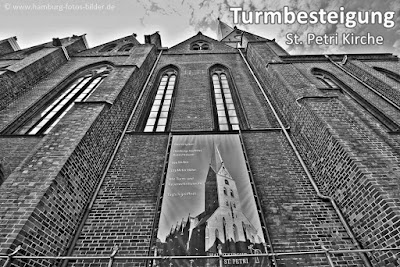 Turmbesteigung Sankt Petri Kirche Hamburg, höchster Aussichtspunkt der Stadt