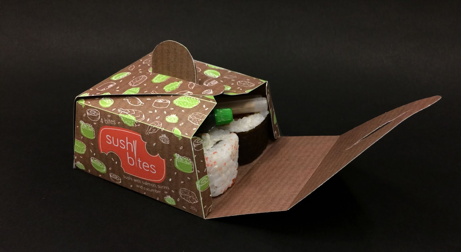 sushi bites student project on packaging of the world. Black Bedroom Furniture Sets. Home Design Ideas