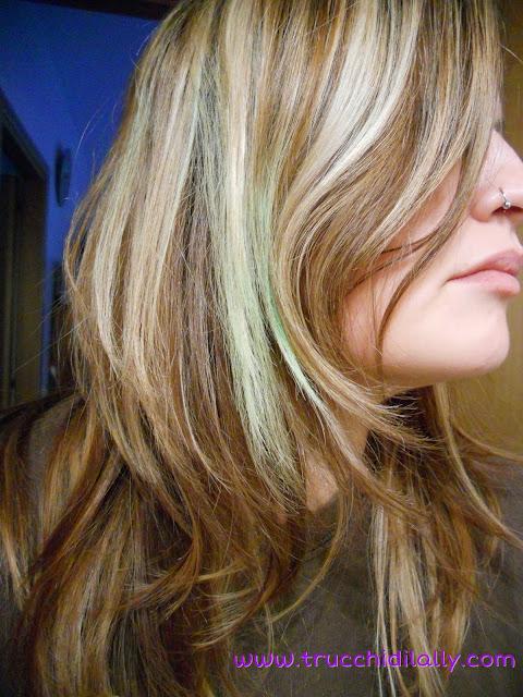 risultato applicazione gesso per capelli su capelli chiari