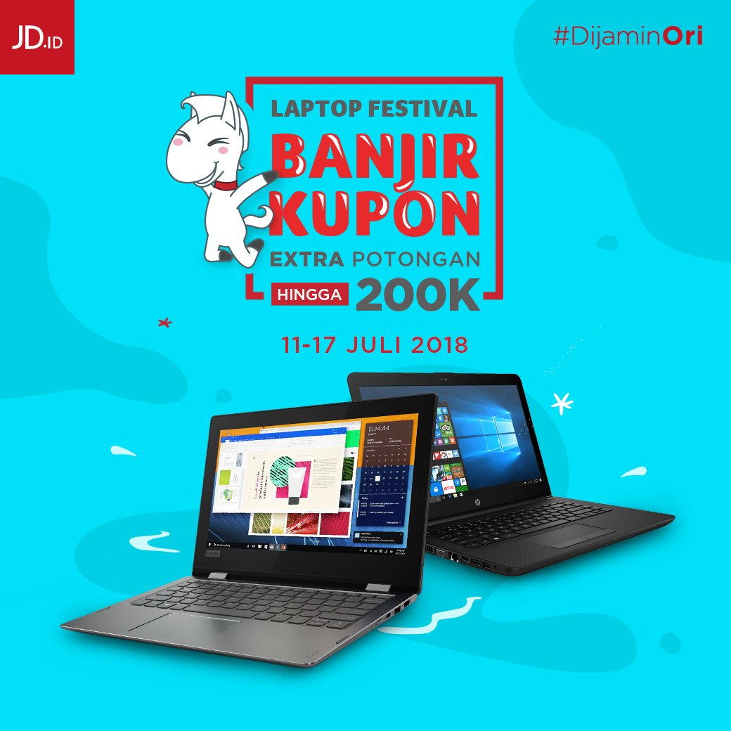 JD.ID - Promo Diskon Laptop + Ekstra Potongan s.d 200 Ribu (11 - 17 Juli 2018 )