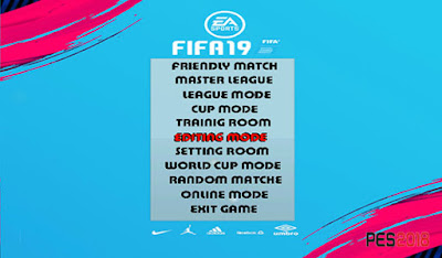 PES 6 Graphics Menu FIFA 19 by Micano4u
