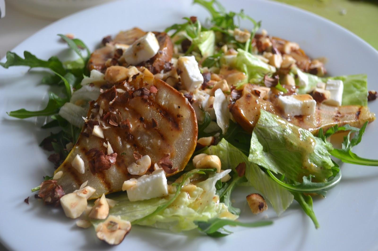 boeddhamum glutenfree: Salade met geroosterde peer ...