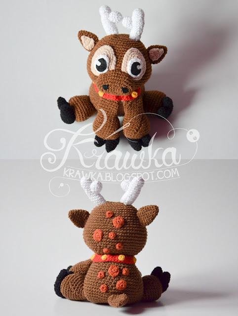 Krawka: Christmas Reindeer pattern by Krawka. Sven - Frozen inspired reindeer