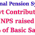 National Pension System- Govt Contribution to NPS raised to 14% of Basic Salary- News