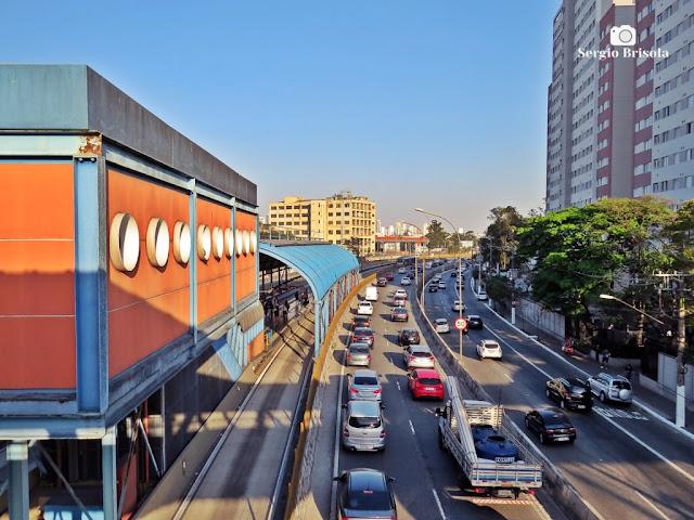 Vista de parte da Estação BRT Cambuci e da Avenida do Estado - Cambuci - São Paulo