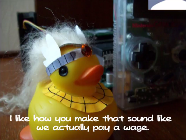KoopaTV Adventures Rawk Hawk Duck pay a wage