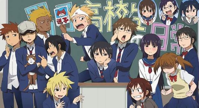 Anime Slice of Life Comedy Terbaik - Danshi Koukousei no Nichijou
