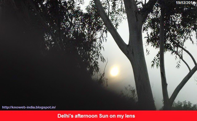 Delhi's afternoon Sun on my lens