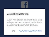 Cara Mengembalikan Akun Facebook yang Telah Dinonaktifkan Terbaru