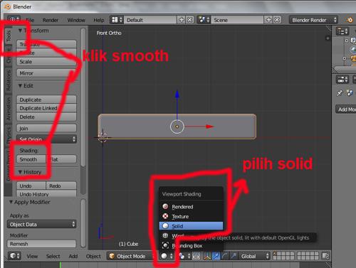 langkah 19 blender 3D membuat teks batik