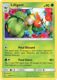 Lilligant Guardians Rising Pokemon Card