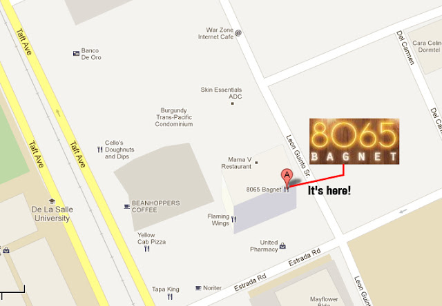 Map to Bagnet 8065