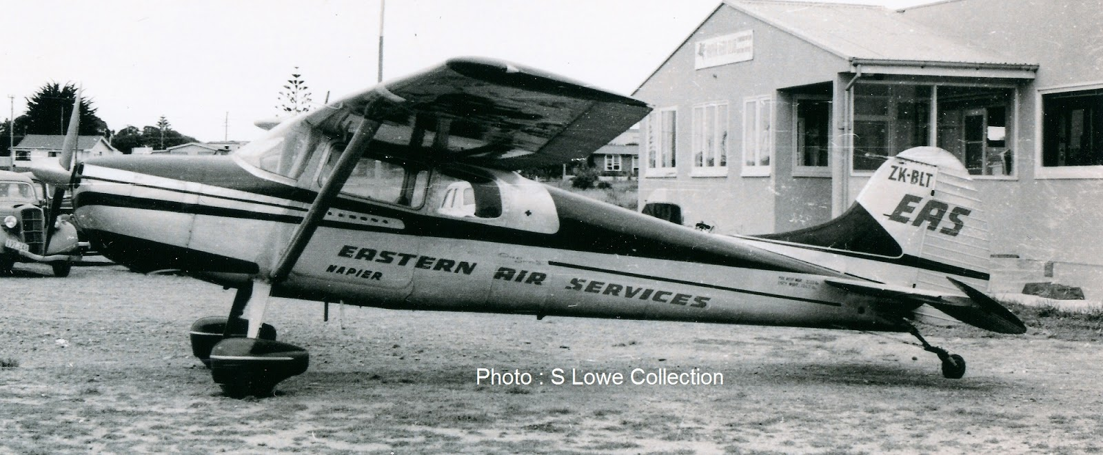 Mainstay Of The Service Cessna 170b Zk Blt At Napier Photographer Unknown