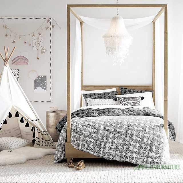 tempat tidur kanopi laci minimalis kuta