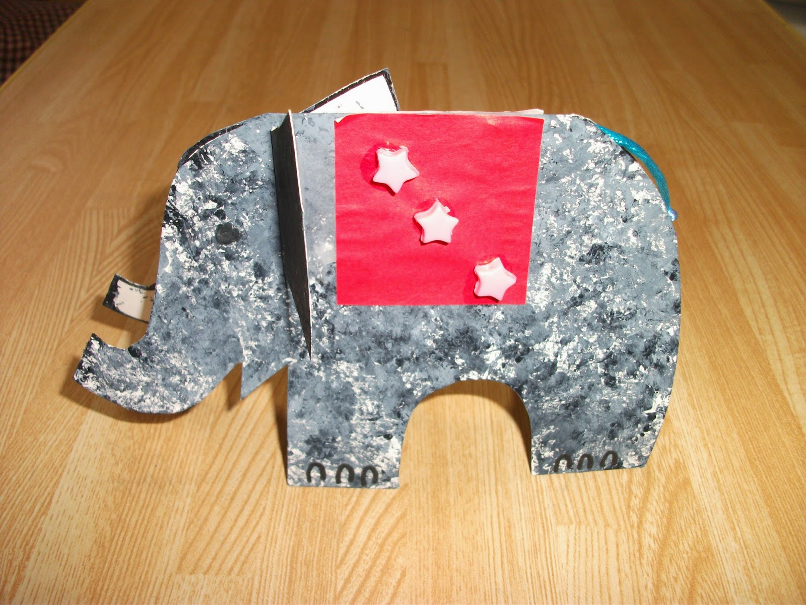 Preschool Crafts For Kids Fun Stand Up Elephant Card Craft