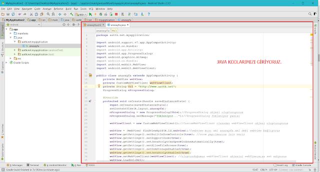 webview uygulama