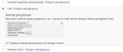 Ini Cara Pembayaran Adsense Untuk Publisher Indonesia