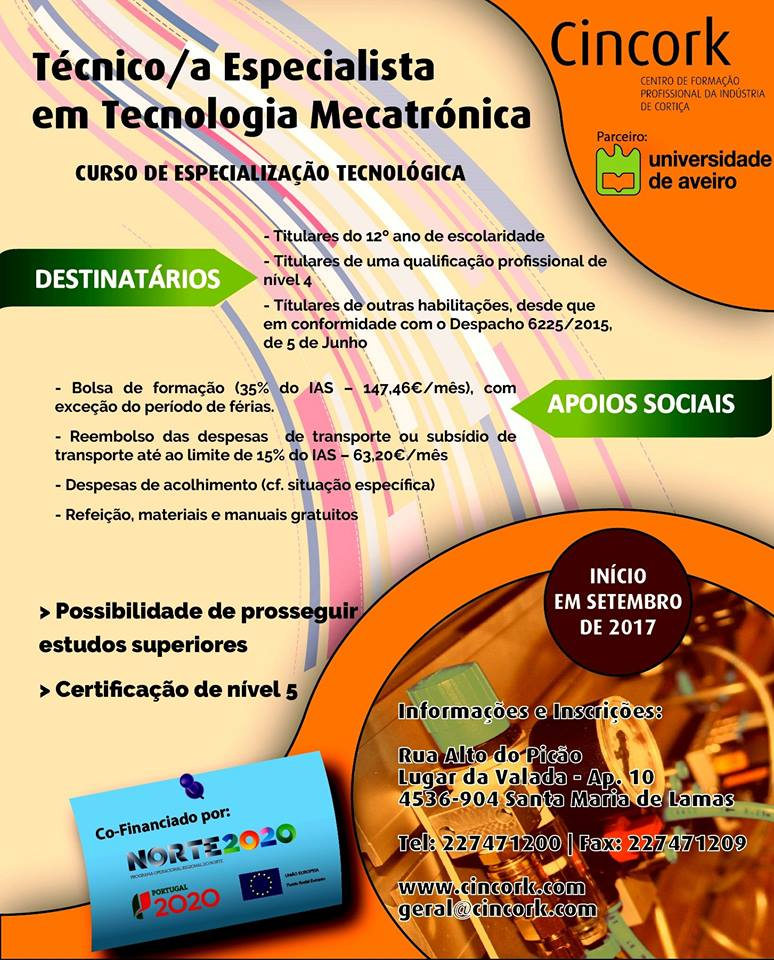 CET tecnologia mecatrónica Santa Maria de Lamas