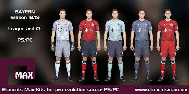 Bayern Munchen 18/19 pes kits