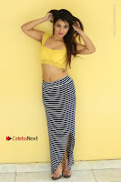 Cute Telugu Actress Shunaya Solanki High Definition Spicy Pos in Yellow Top and Skirt  0492.JPG