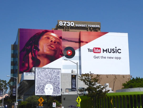 Giant YouTube Music app billboard