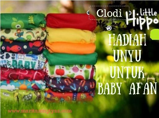 Clodi Little Hippo; Hadiah Unyu untuk Baby Afan