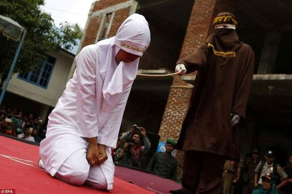 Indonesian Woman Caned In Public For Committing Fornication