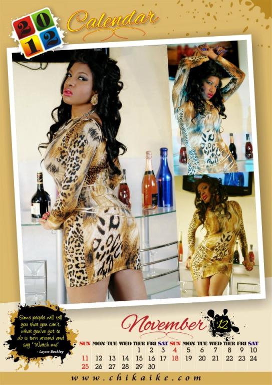 Too Late?? Actress Chika Ike Unveils 2012 Calendar. 12