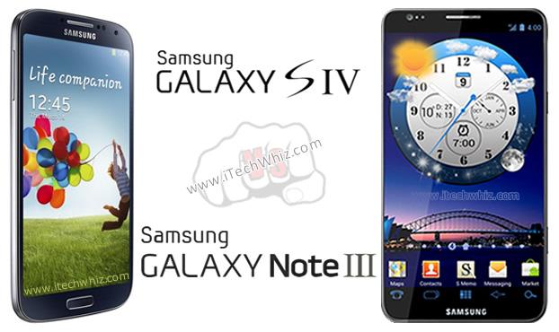 Samsung Galaxy Note 3 vs Galaxy S4 Specs Comparison