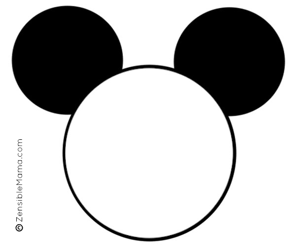 Disney Inspired Mickey Mouse Ears Printable Template