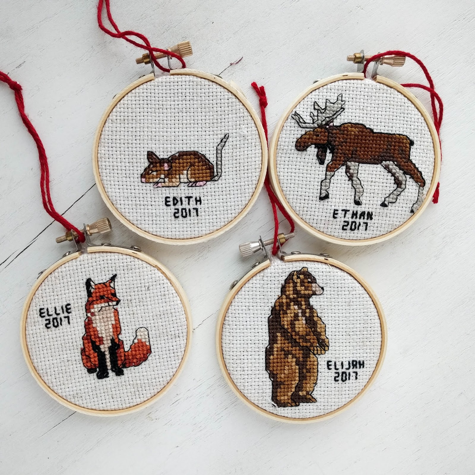 diy cross stitch christmas ornaments - Cross Stitch Christmas Decorations