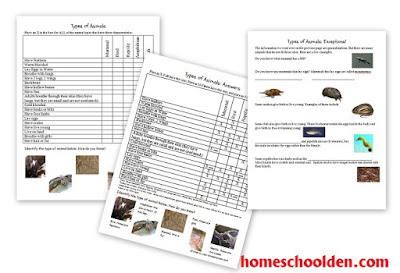 http://homeschoolden.com/2015/12/21/animal-unit-types-of-animals-worksheet-packet-30-pages/