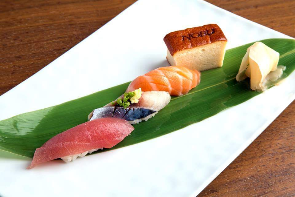 Photo credit from Nobu restaurant's sushi