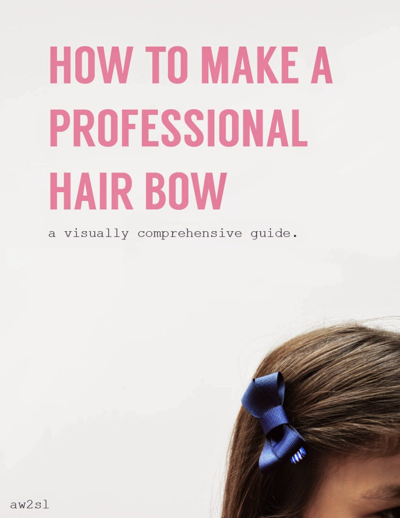 how to make a perfect hair bow