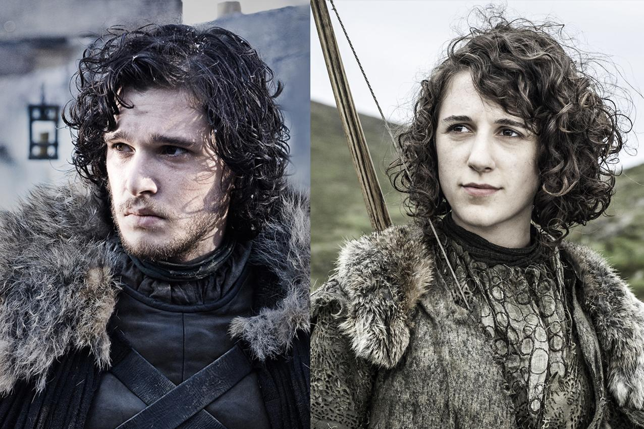 Kit Harington y Ellie Kendrick son Jon Snow y Meera Reed