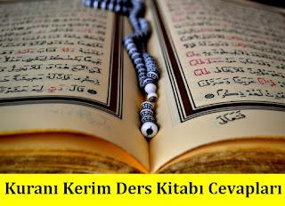 8. Sınıf Kuranı Kerim Tutku Yayınları Ders Kitabı Cevapları