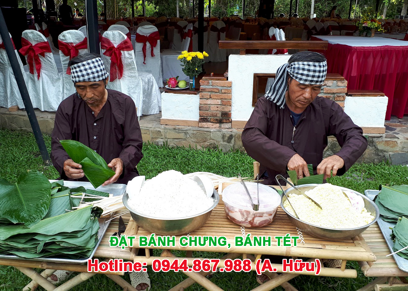 Đặt bánh chưng, bánh tét Tết ở Sài Gòn