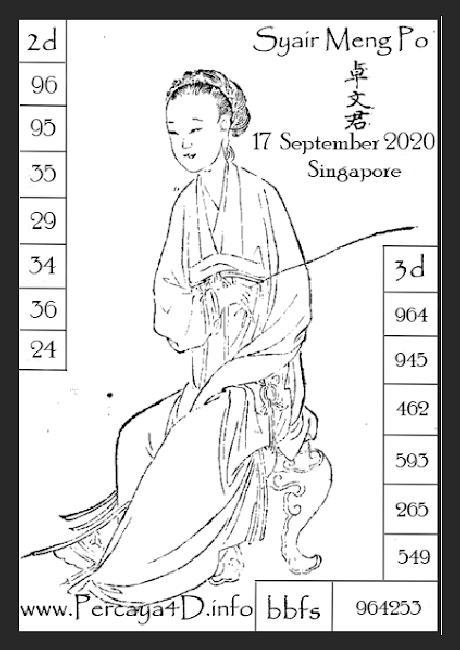 Kode syair Singapore Kamis 17 September 2020 145
