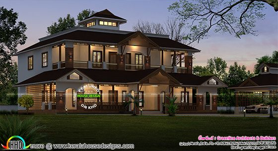 3345 sq-ft Beautiful traditional Kerala home