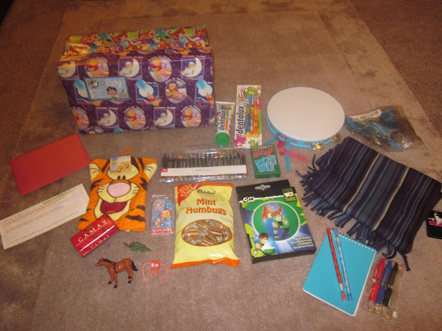 Operation Christmas Child shoebox contents
