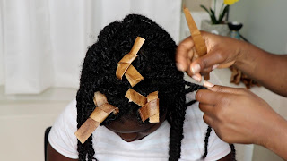 Paper Bag Curls Roller set | No Heat | DiscoveringNatural