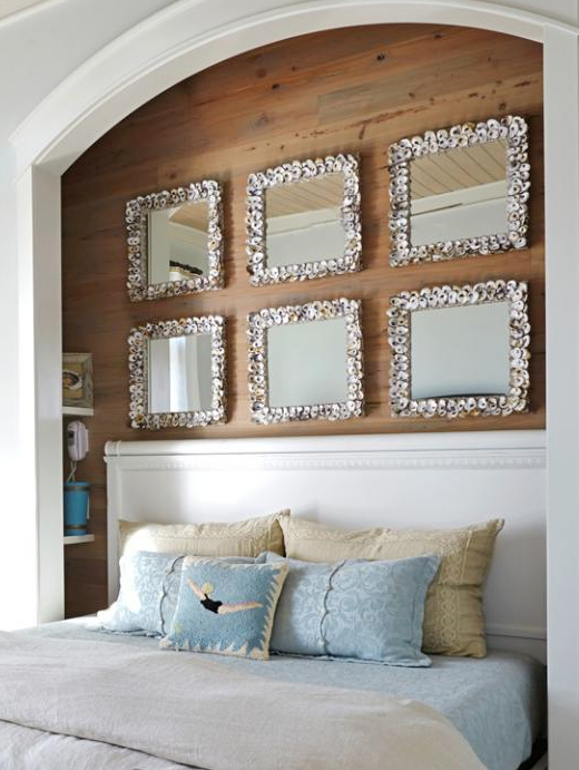 Oyster Shell Mirror Gallery Wall