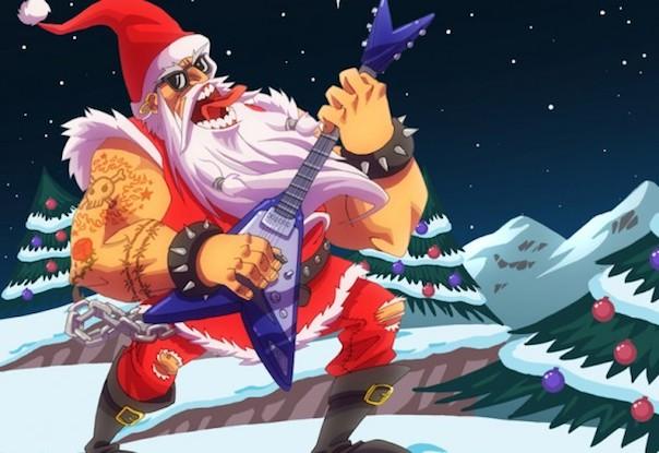 Heavy metal santa